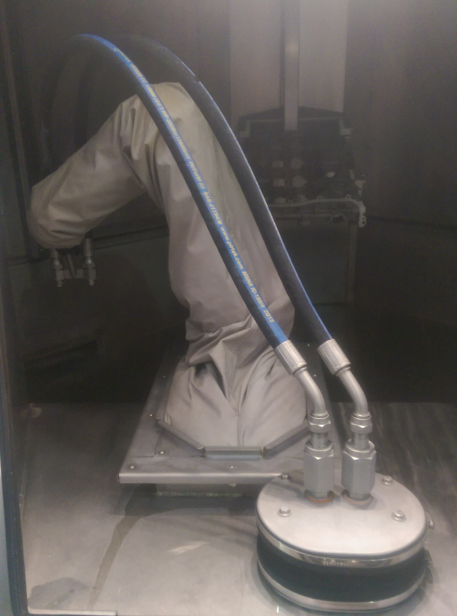 cover on a robot arm
